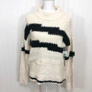 1. State Textured Striped Sweater Size L Large